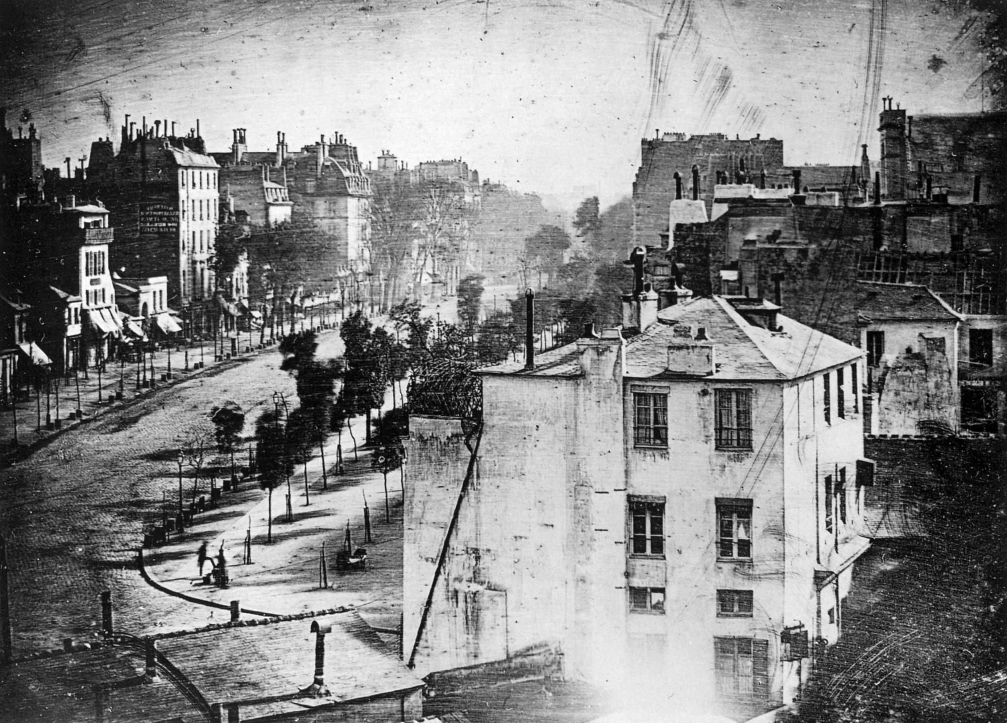"""""""The Boulevard du Temple"""", by Louis Daguerre (public domain)."""