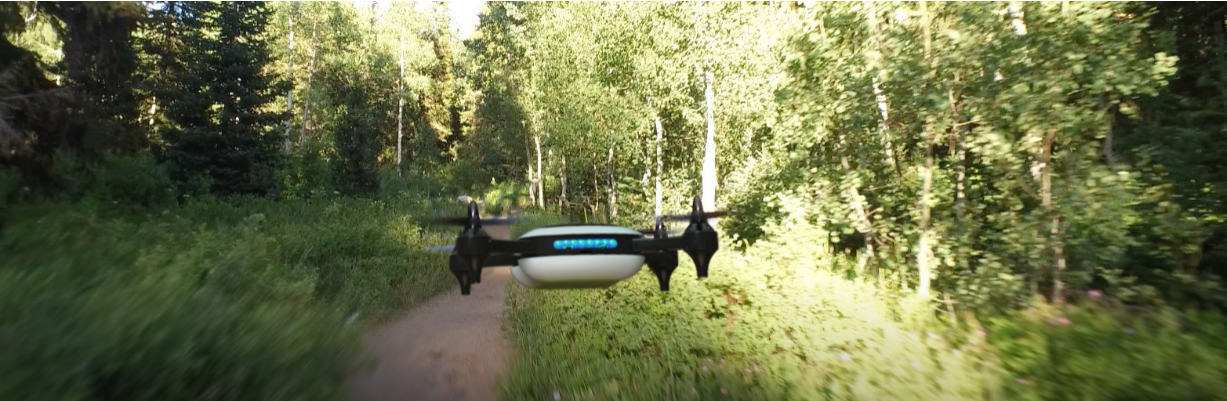 Figure 1: Capable of flying 85mph, the lightweight Teal drone uses NVIDIA Jetson TX1 and on-the-fly deep learning.