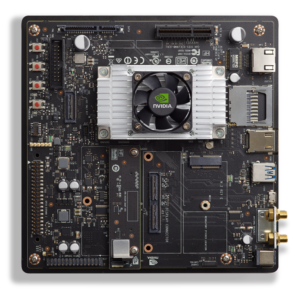 Figure 5: NVIDIA Jetson TX2 Developer Kit including module, reference carrier, and camera module.