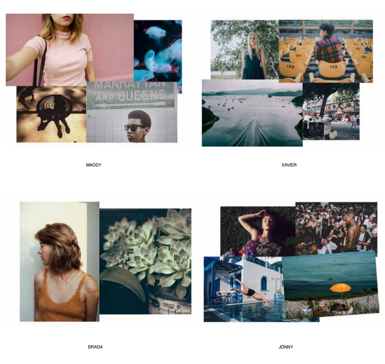 Figure 7: A look at four EyeEm curator's aesthetic flavours.