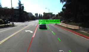 Figure 1. Car approaching a vehicle in an intersection.