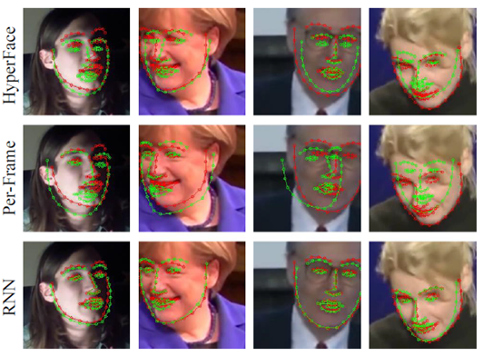 Figure 7. Example results of facial landmark localization.