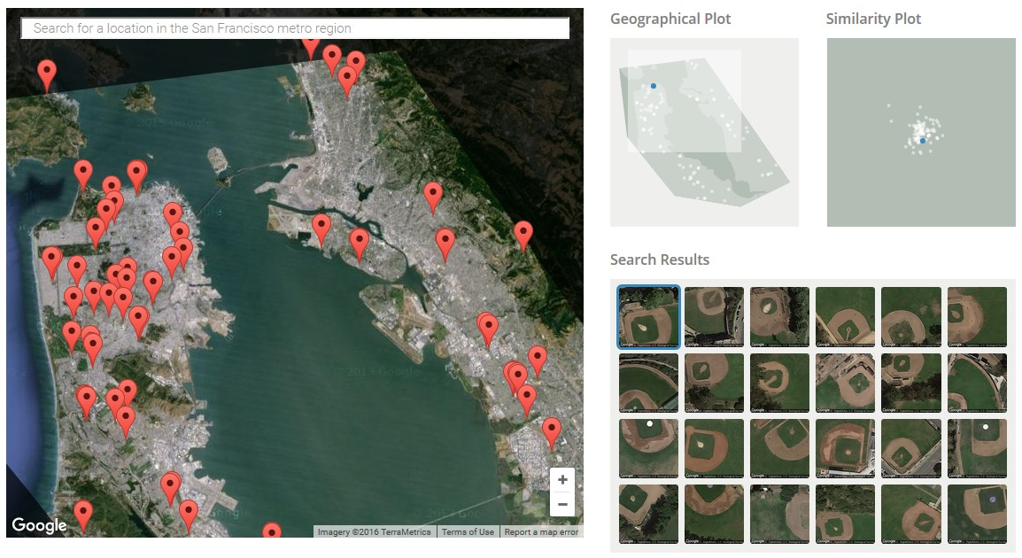 Open-Access Visual Search Tool for Satellite Imagery