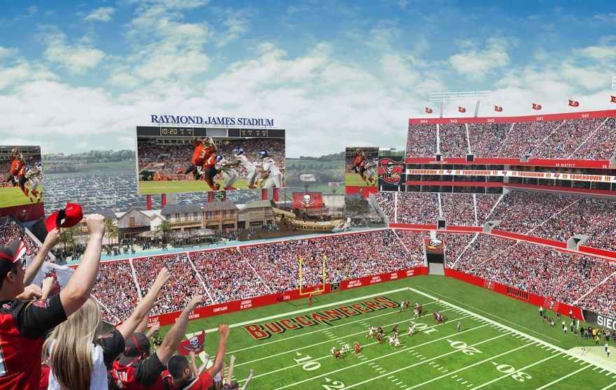 An aerial view of what the overhauled Raymond James Stadium will look like for the 2016 season. (Tampa Bay Buccaneers)