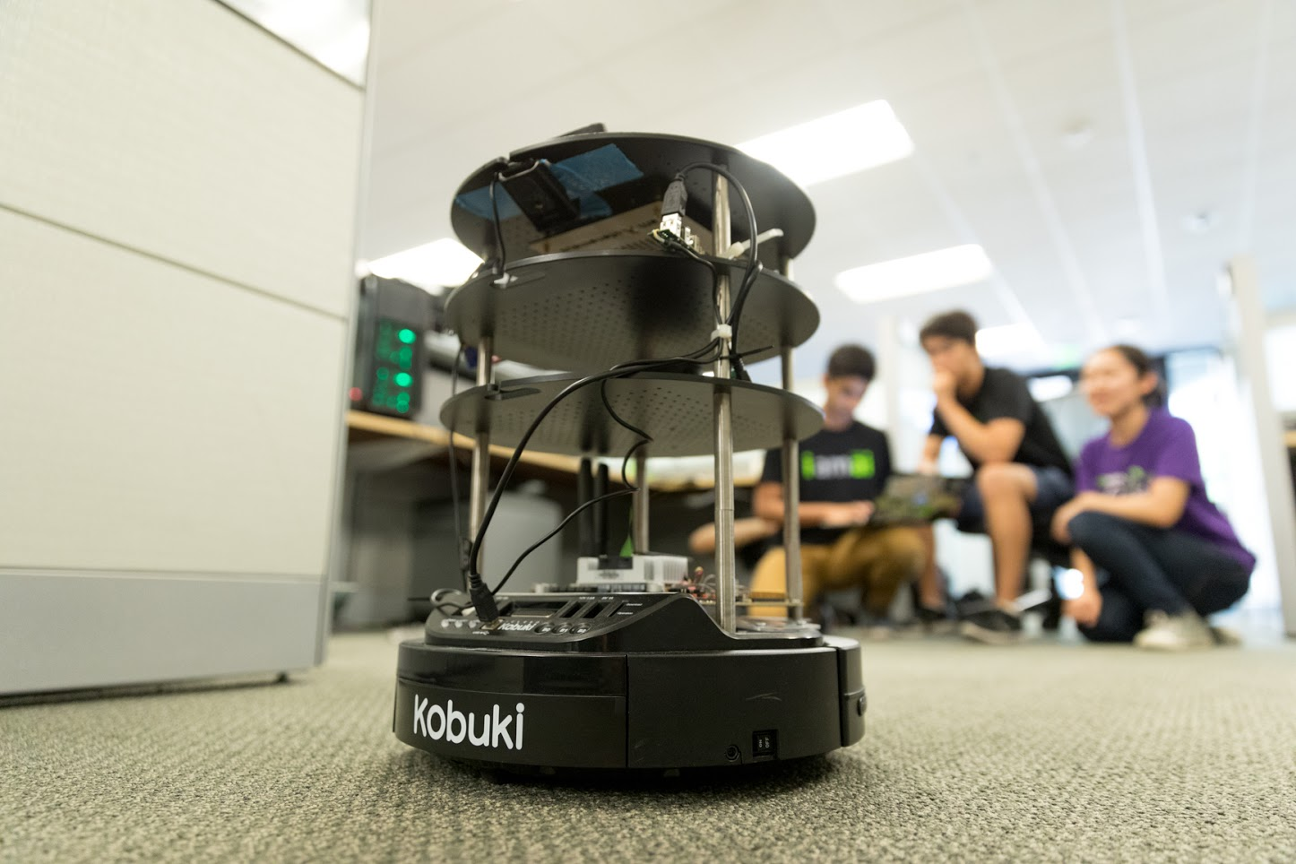 Coming Right Up! High Schoolers Build Indoor Delivery Robot with