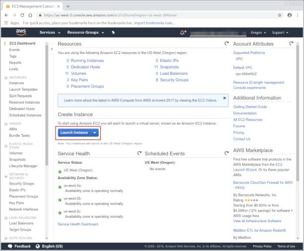 AWS EC2 dashboard screenshot