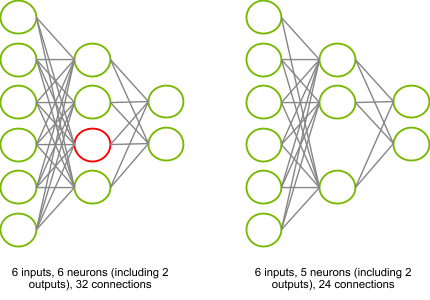 Pruned neuron diagram