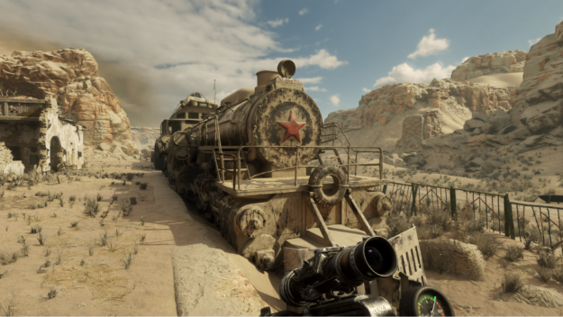 Single frame from Metro Exodus for performance event example
