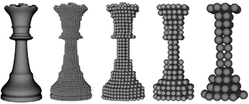 Particles generated from a shape