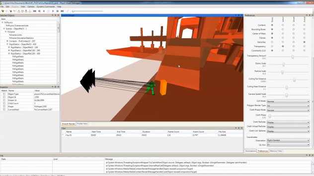 PhysX Visual Debugger (PVD)