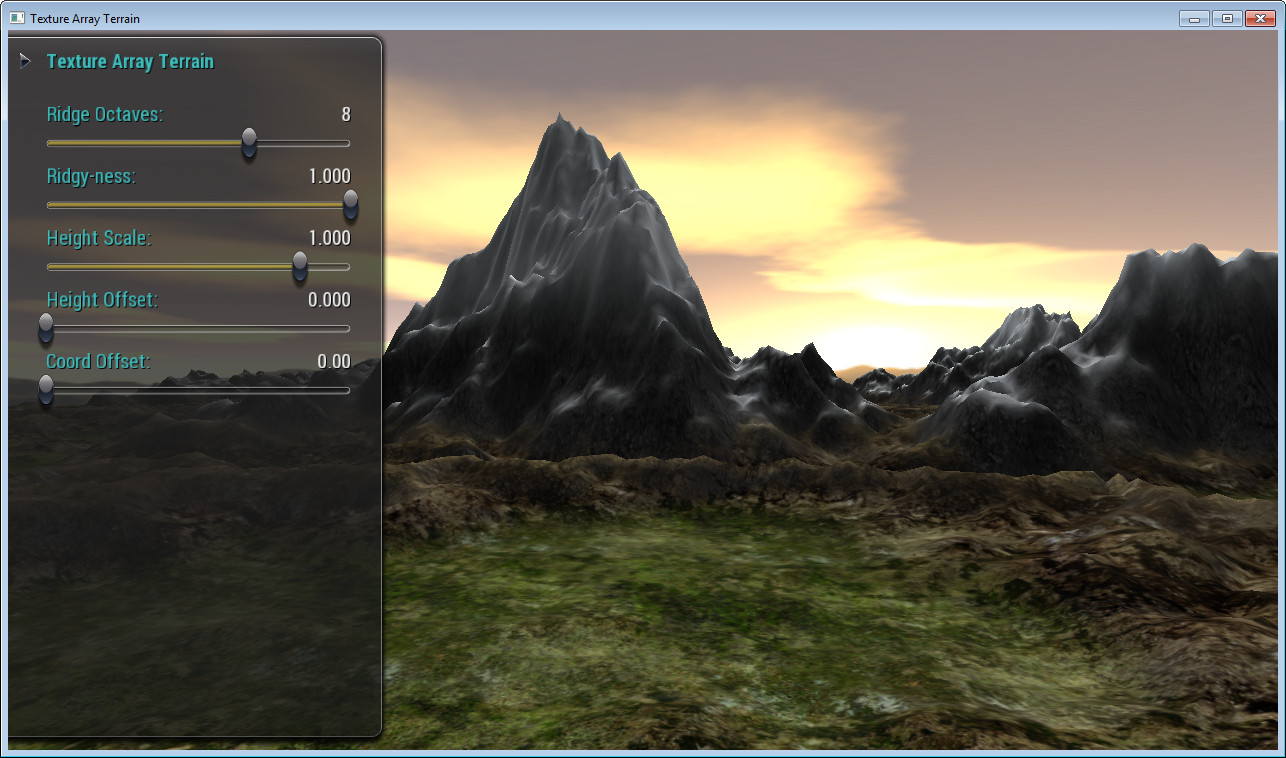Texture Array Terrain Sample