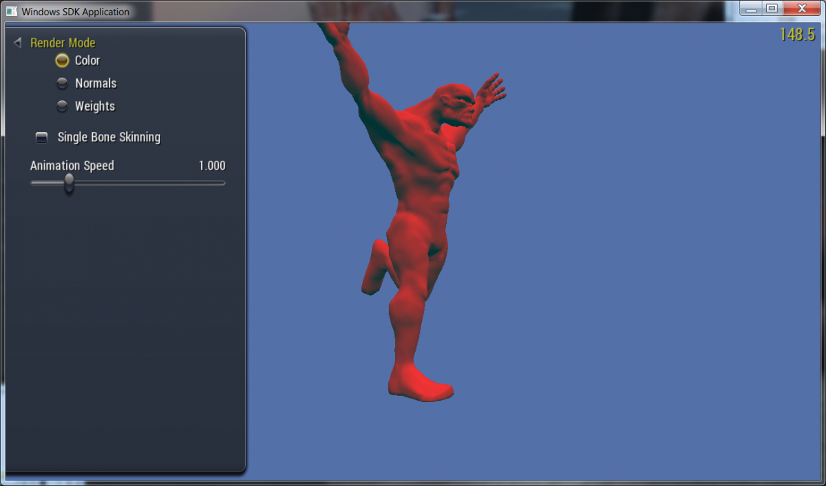 Vulkan Skinning Sample