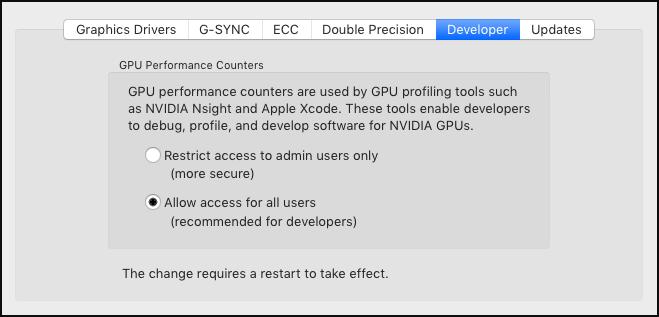 NVIDIA Development Tools Solutions - ERR_NVGPUCTRPERM: Permission