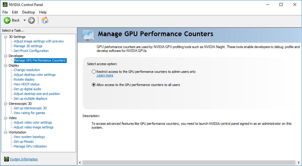 access nvidia control panel mac