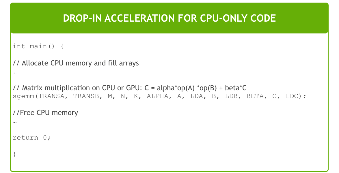 GPU-Accelerated Libraries for Computing | NVIDIA Developer